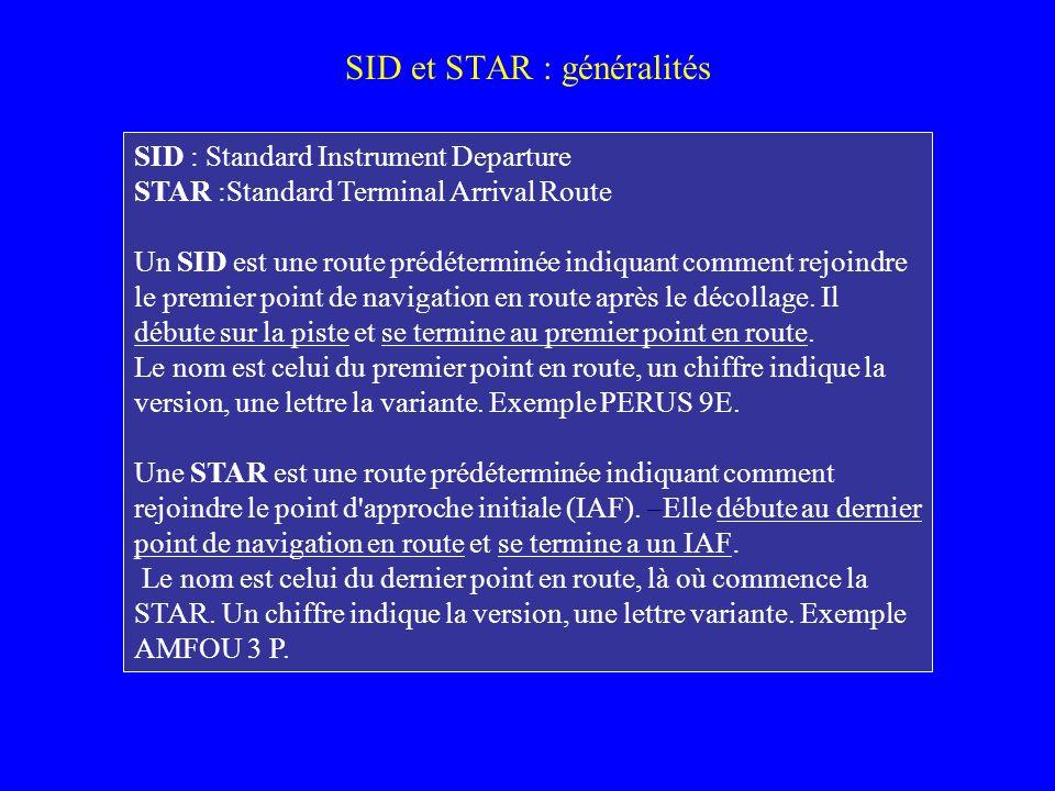 SID et STAR : généralités