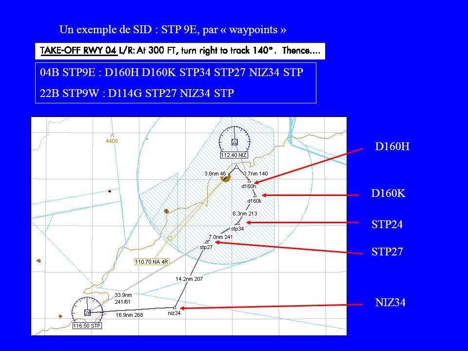Un exemple de SID : STP 9E, par « waypoints »