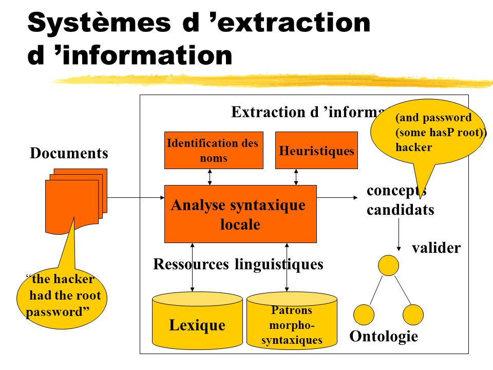 Systèmes d 'extraction d 'information