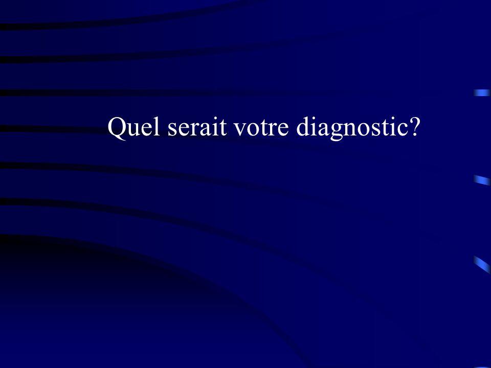 Quel serait votre diagnostic