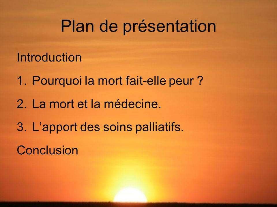 Plan de présentation Introduction Pourquoi la mort fait-elle peur
