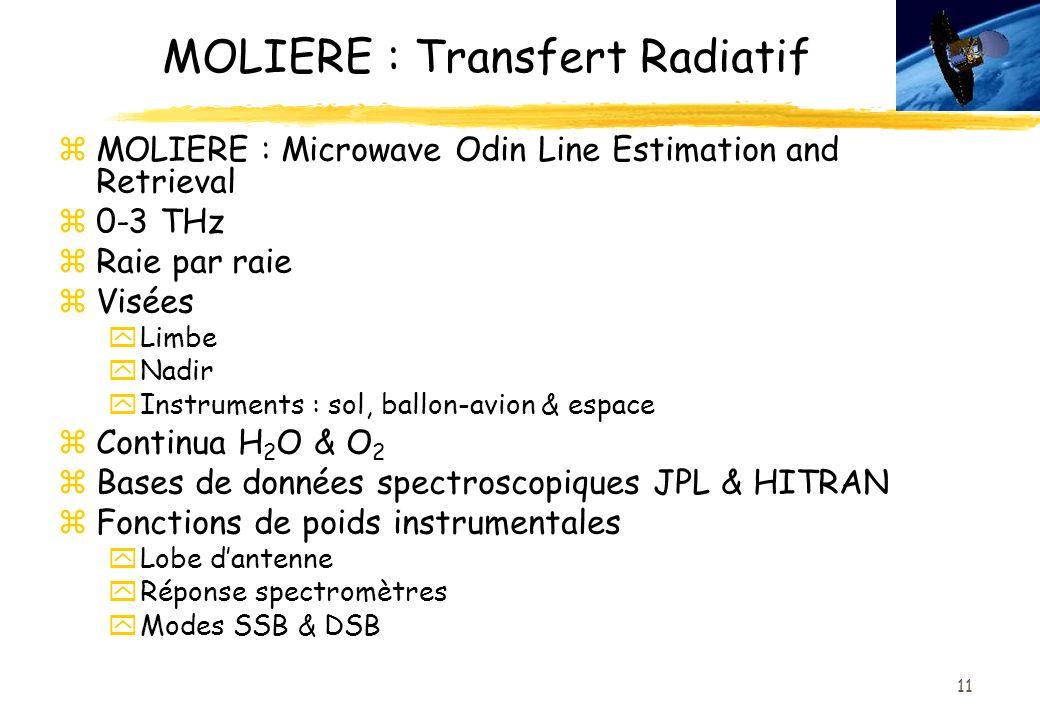 MOLIERE : Transfert Radiatif