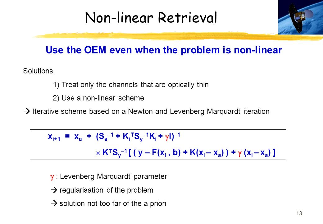 Use the OEM even when the problem is non-linear