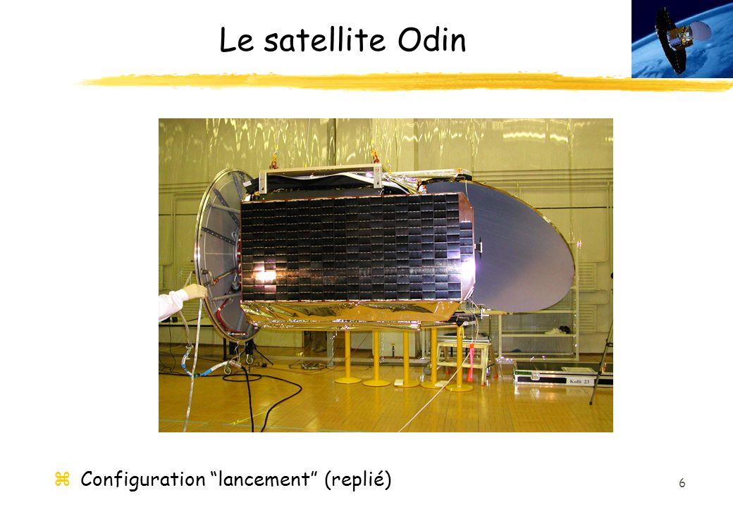 Le satellite Odin Configuration lancement (replié)