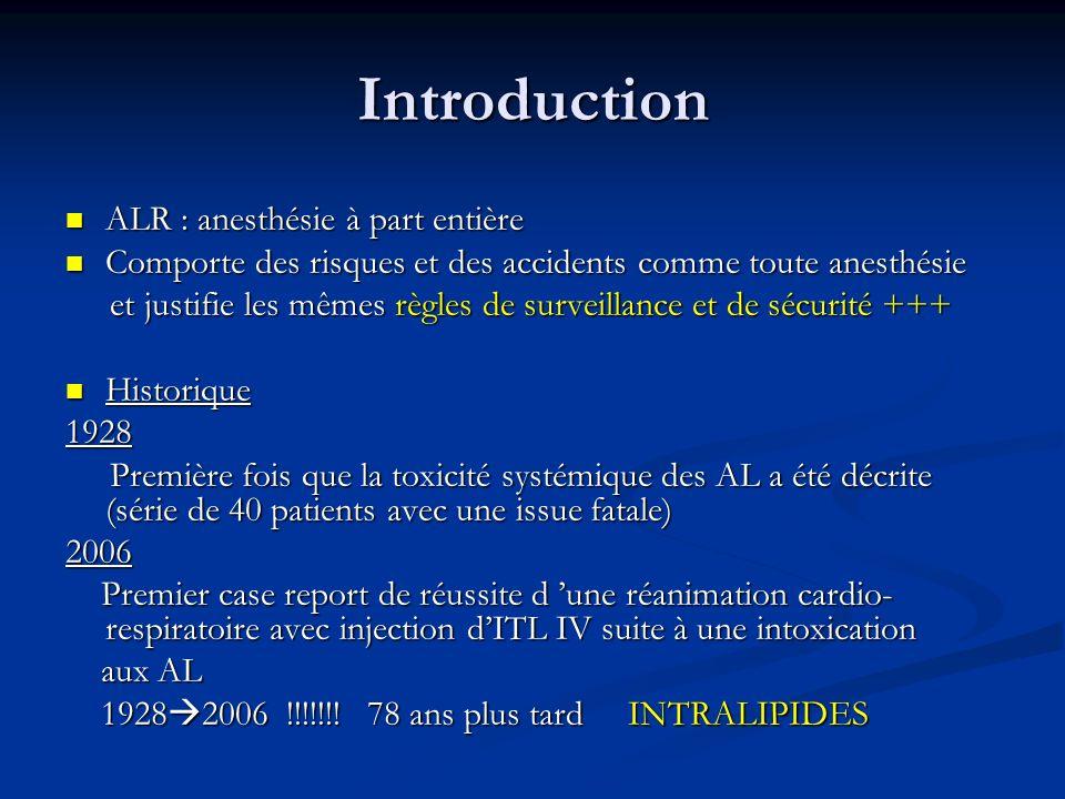 Introduction ALR : anesthésie à part entière