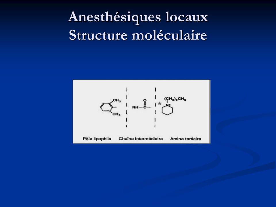 Anesthésiques locaux Structure moléculaire