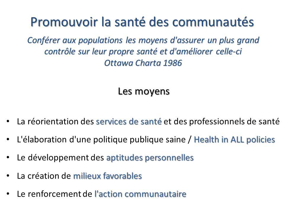 Promouvoir la santé des communautés