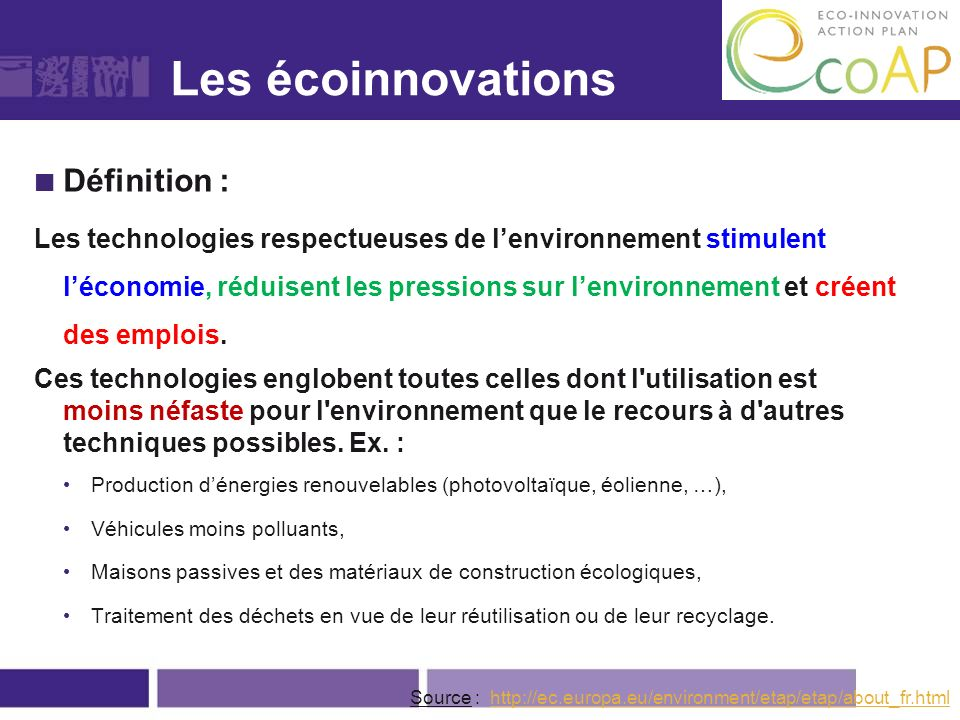 Exemple d'éco-innovation
