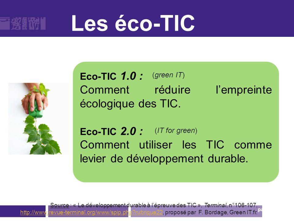 Eco-TIC 1.0 Eco-TIC 2.0.
