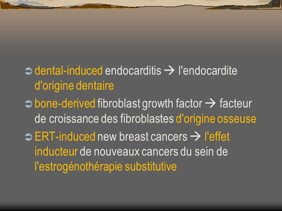 dental-induced endocarditis  l endocardite d origine dentaire