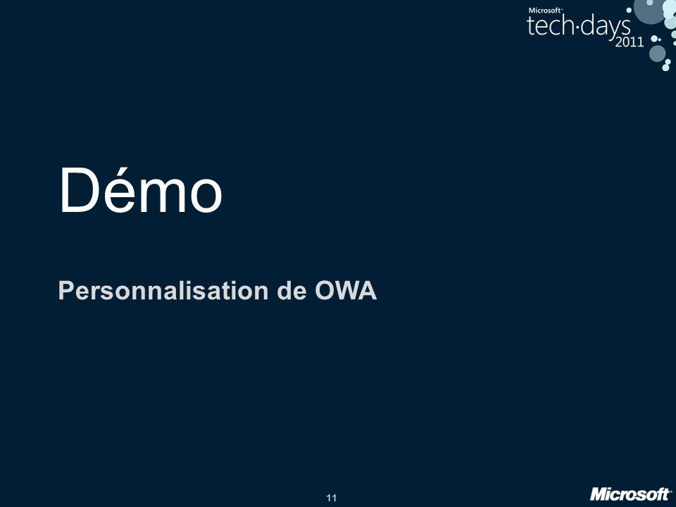 Personnalisation de OWA
