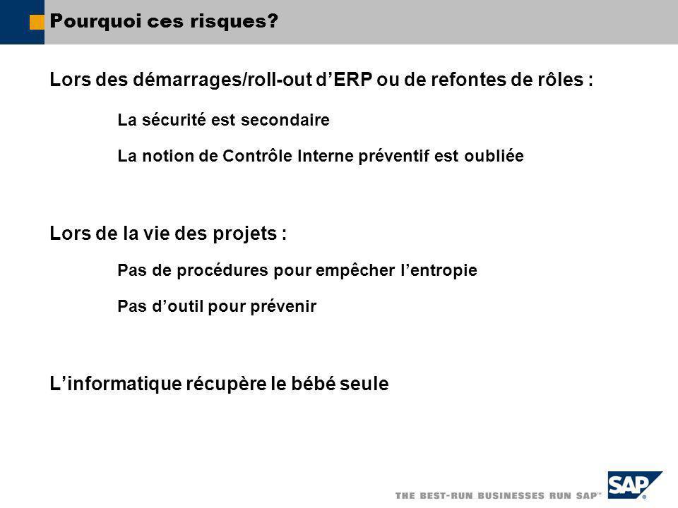 Lors des démarrages/roll-out d'ERP ou de refontes de rôles :