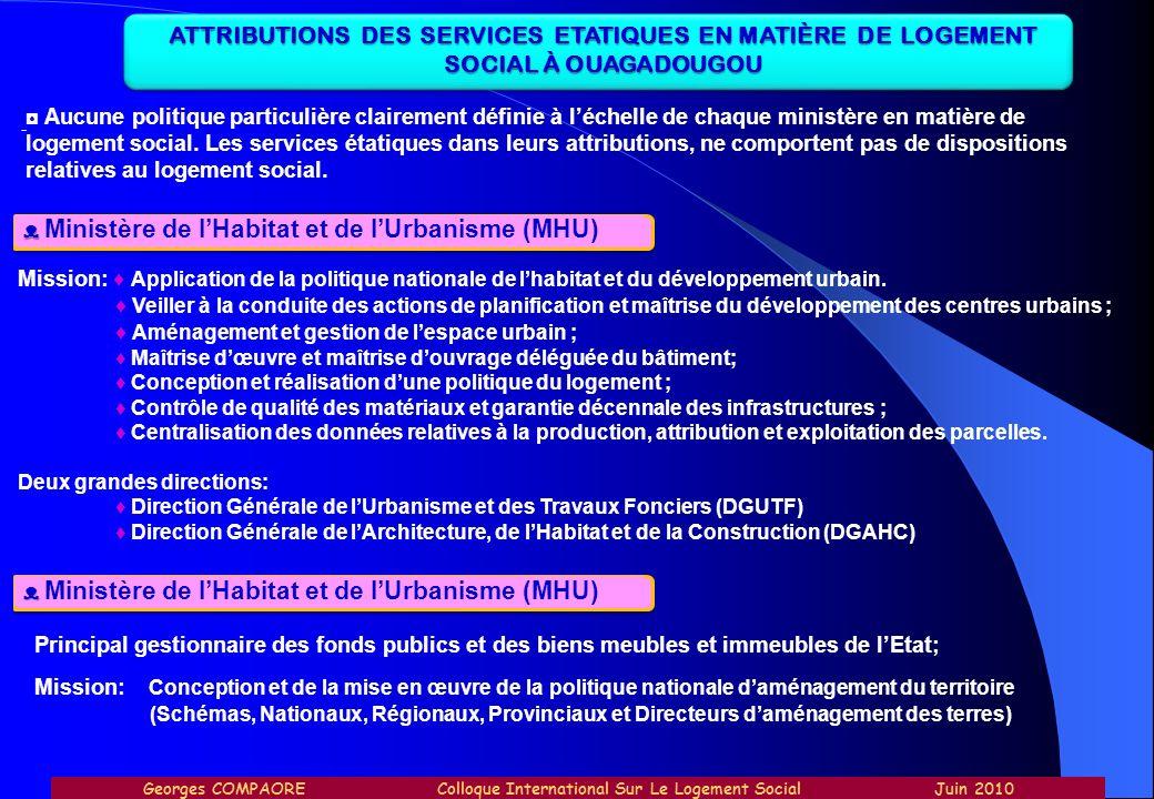 ᴥ Ministère de l'Habitat et de l'Urbanisme (MHU)