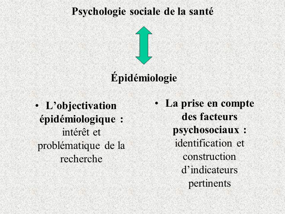 Psychologie sociale de la santé Épidémiologie