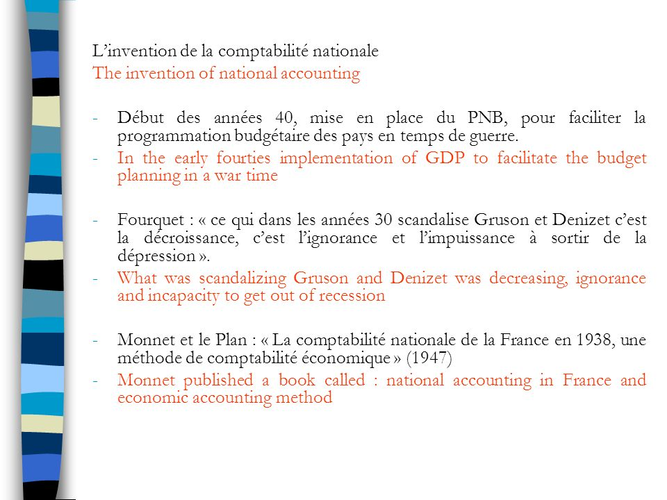 L'invention de la comptabilité nationale