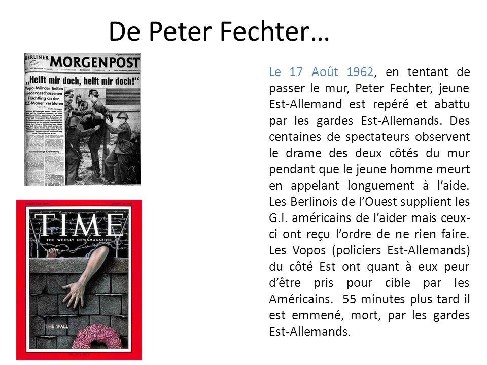 De Peter Fechter…