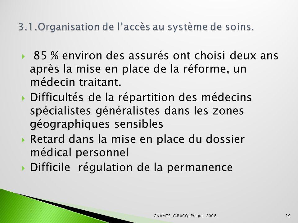 3.1.Organisation de l'accès au système de soins.