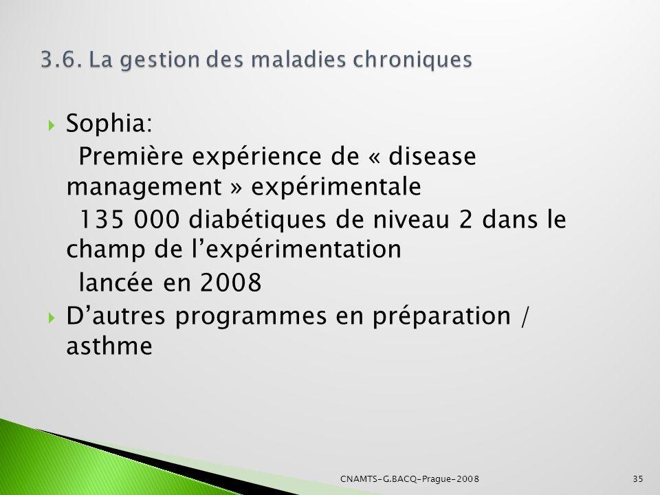 3.6. La gestion des maladies chroniques