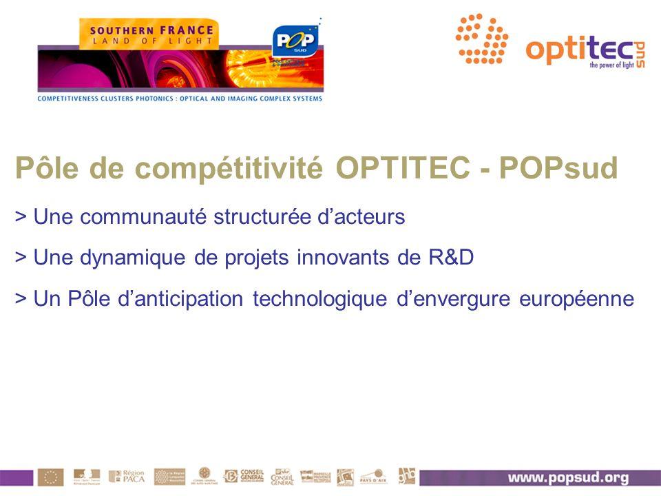 Pôle de compétitivité OPTITEC - POPsud > Une communauté structurée d'acteurs > Une dynamique de projets innovants de R&D > Un Pôle d'anticipation technologique d'envergure européenne