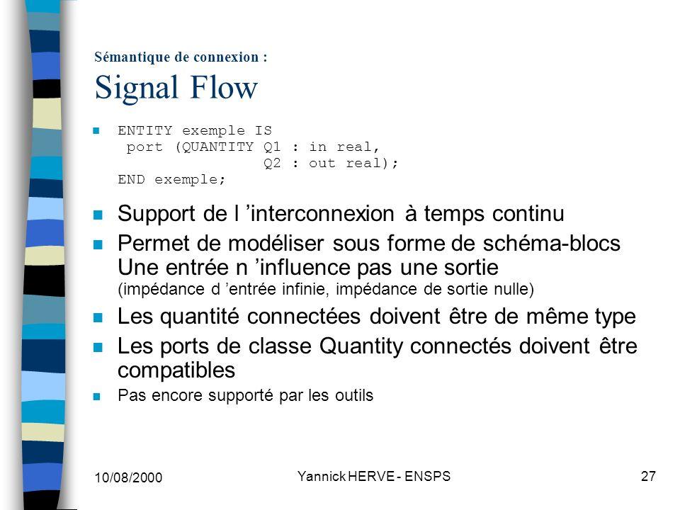 Sémantique de connexion : Signal Flow