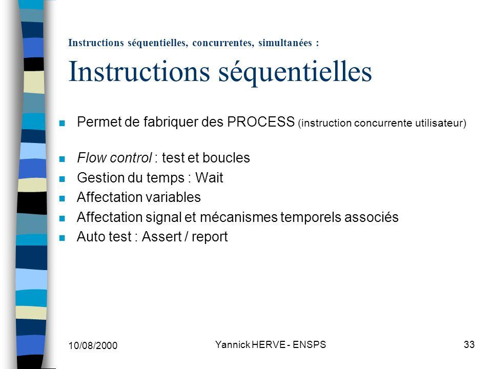 Permet de fabriquer des PROCESS (instruction concurrente utilisateur)