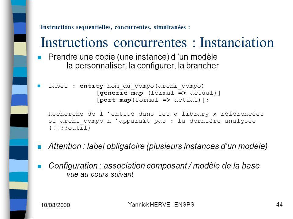 Attention : label obligatoire (plusieurs instances d'un modèle)