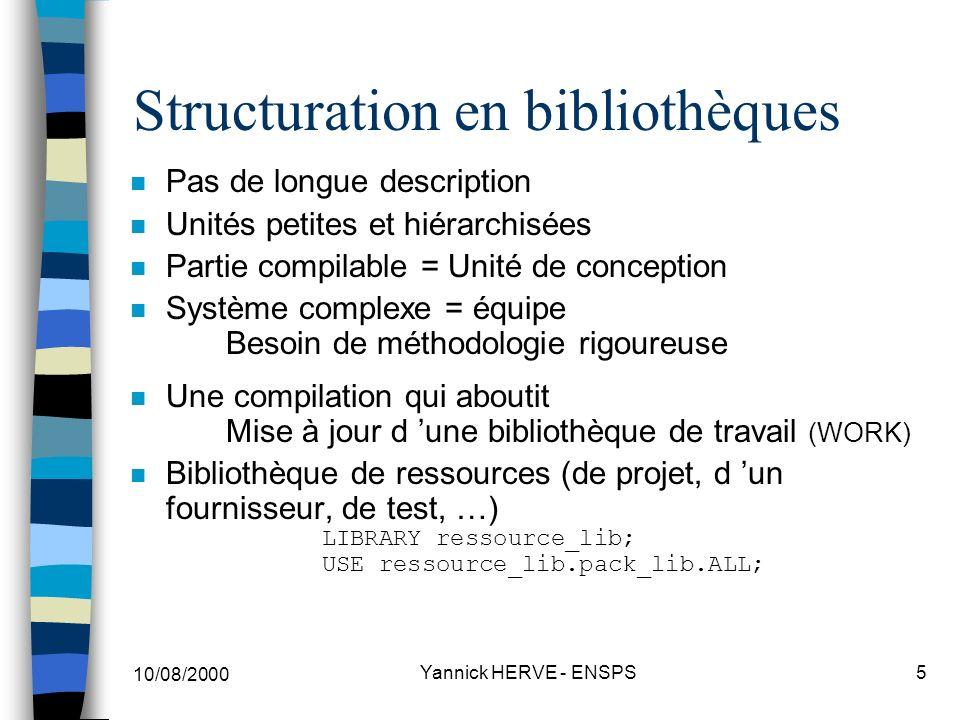 Structuration en bibliothèques