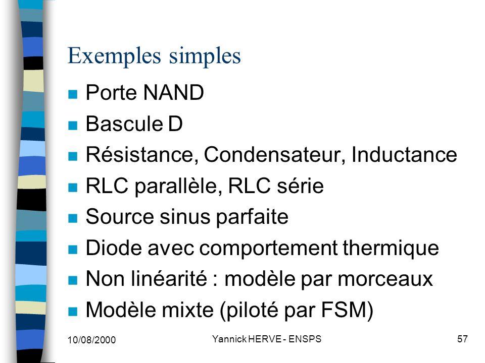 Exemples simples Porte NAND Bascule D