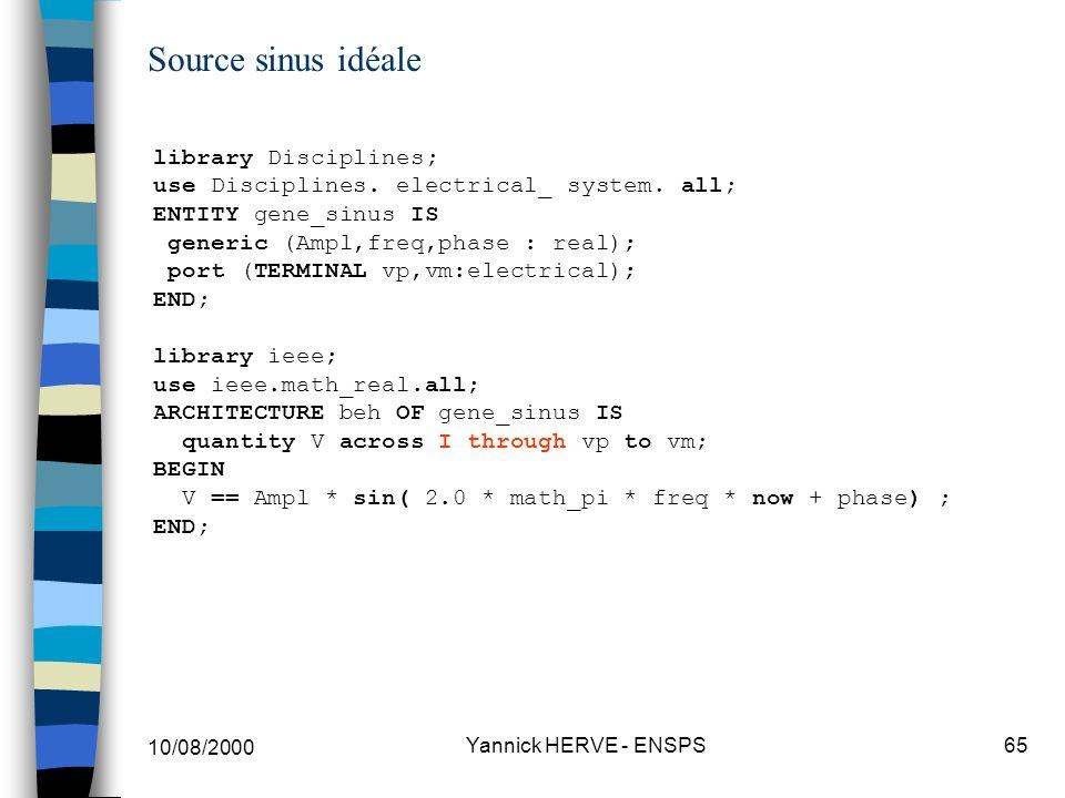 Source sinus idéale library Disciplines;