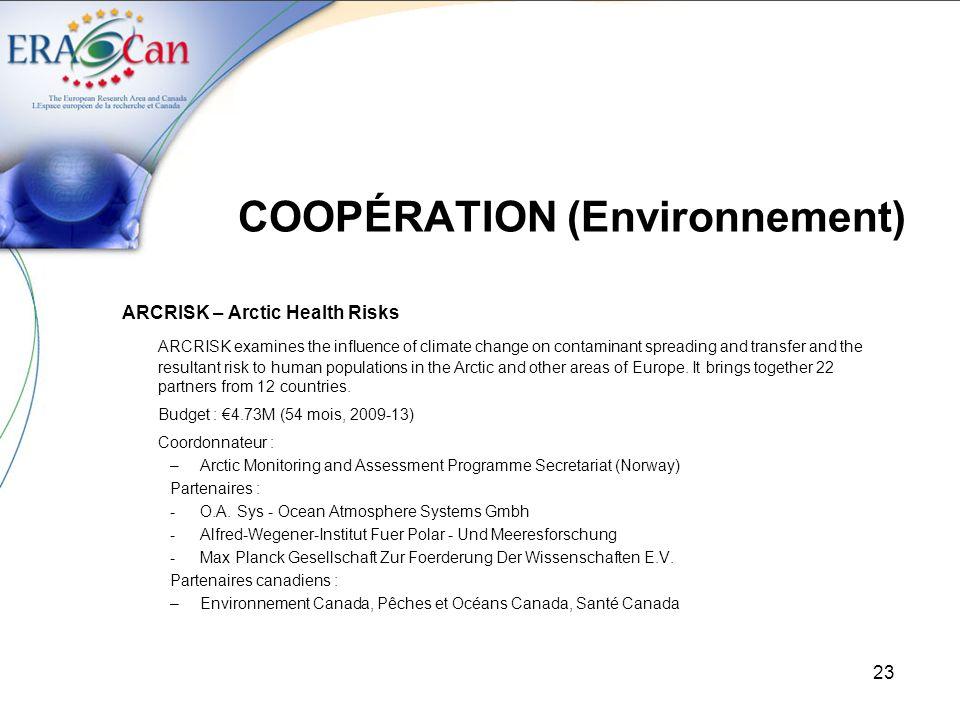 COOPÉRATION (Environnement)