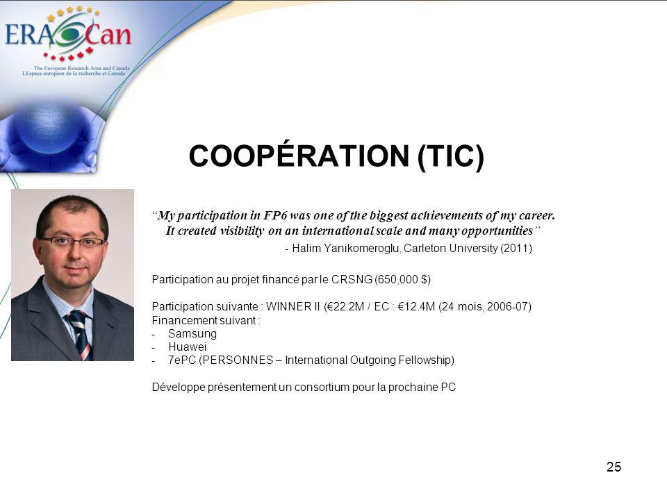 COOPÉRATION (TIC) - Halim Yanikomeroglu, Carleton University (2011)