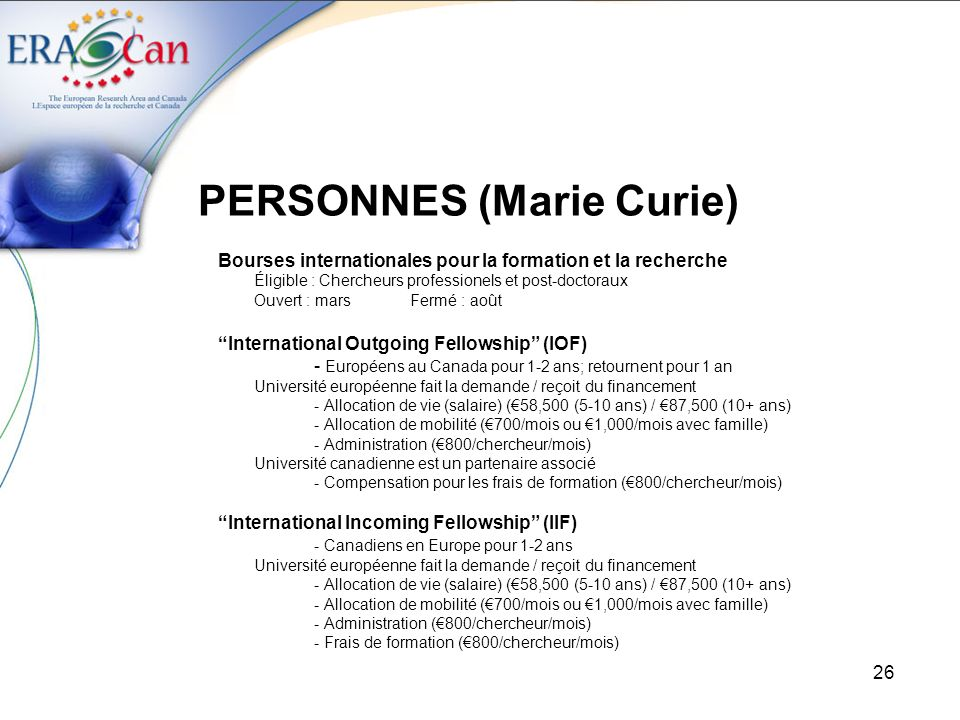 PERSONNES (Marie Curie)