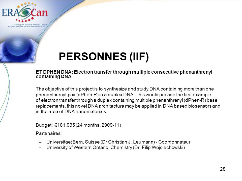 PERSONNES (IIF) ET DPHEN DNA: Electron transfer through multiple consecutive phenanthrenyl containing DNA.