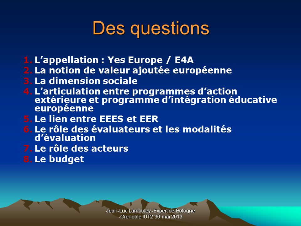 Jean-Luc Lamboley -Expert de Bologne -Grenoble IUT2 30 mai 2013
