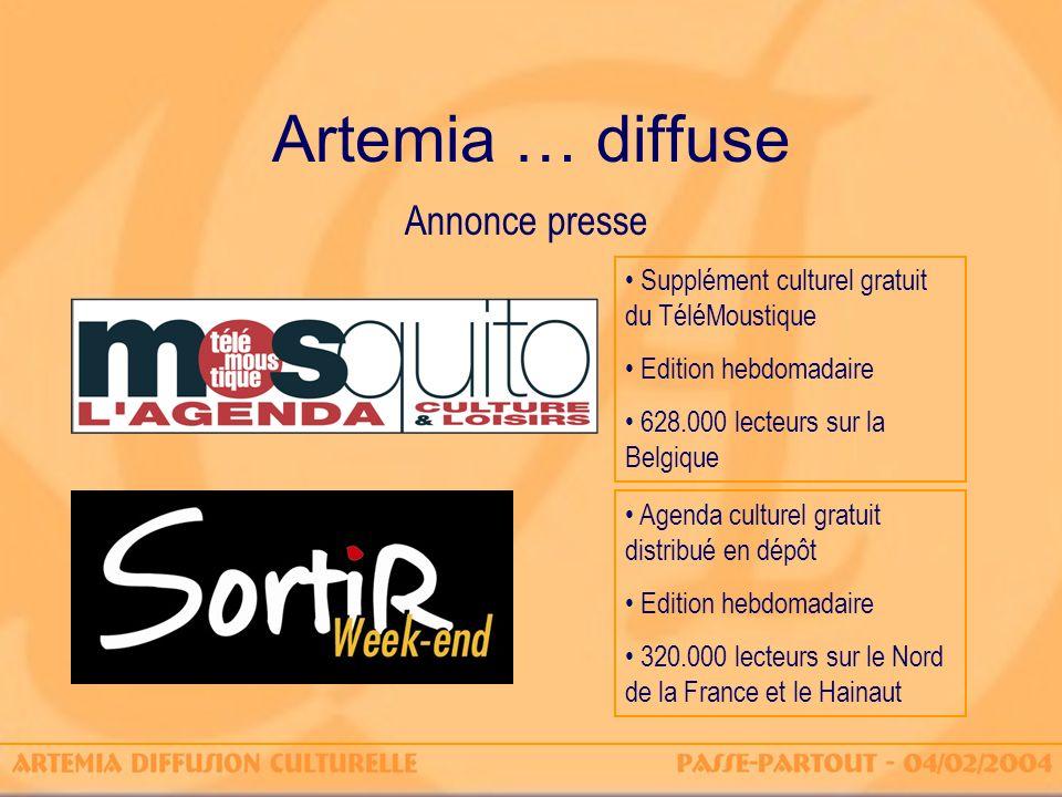 Artemia … diffuse Annonce presse