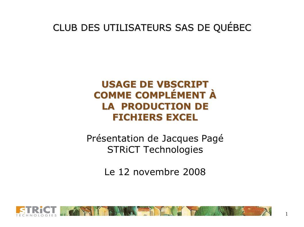 CLUB DES UTILISATEURS SAS DE QUÉBEC