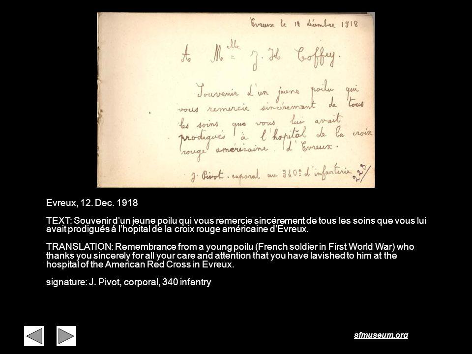 Page 5 Evreux, 12. Dec. 1918.