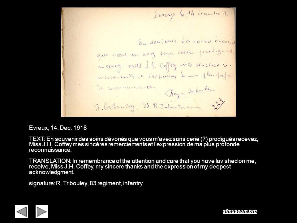 Page 6 Evreux, 14. Dec. 1918.