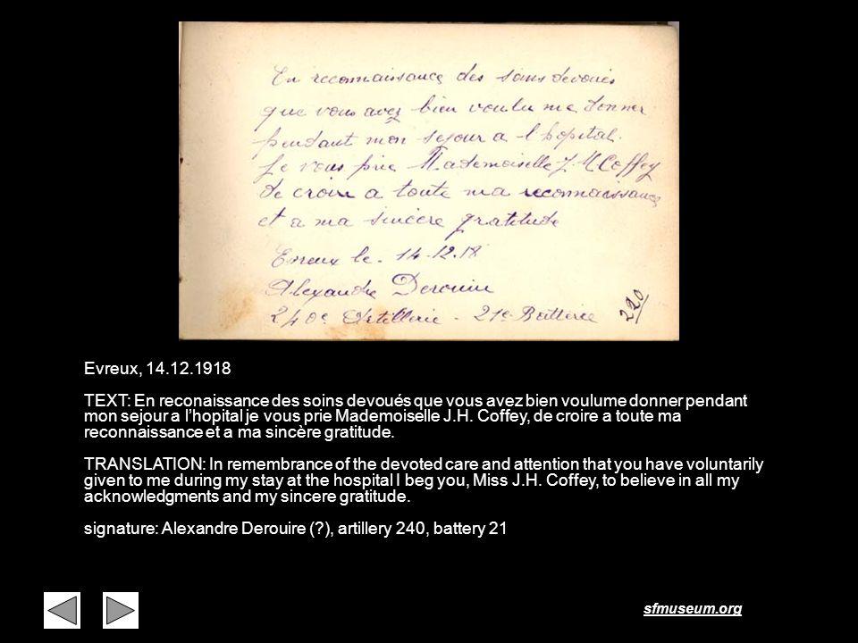 Page 7 Evreux, 14.12.1918.