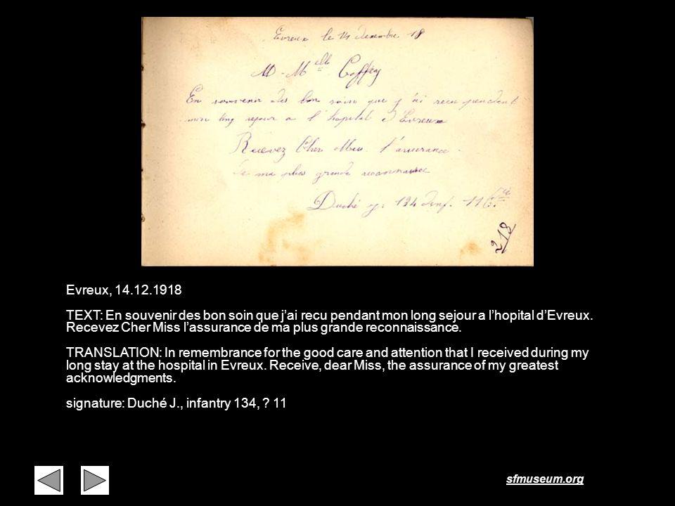 Page 8 Evreux, 14.12.1918.