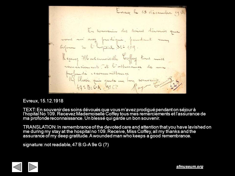 Page 9 Evreux, 15.12.1918.