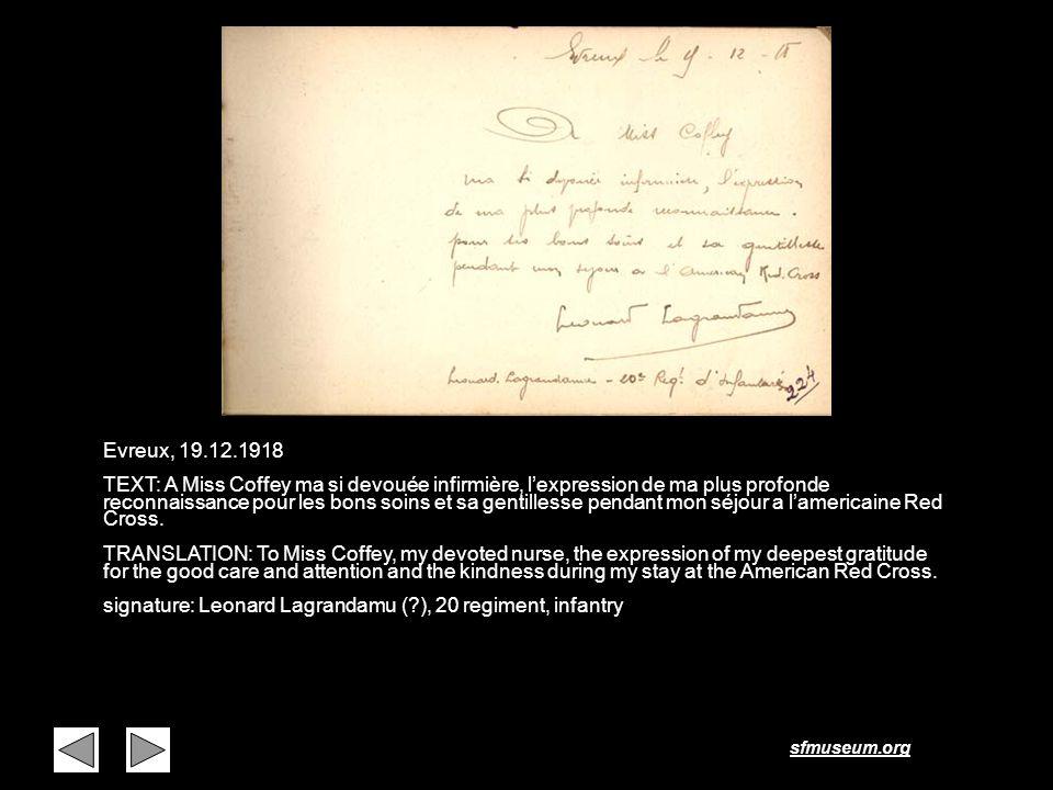 Page 16 Evreux, 19.12.1918.