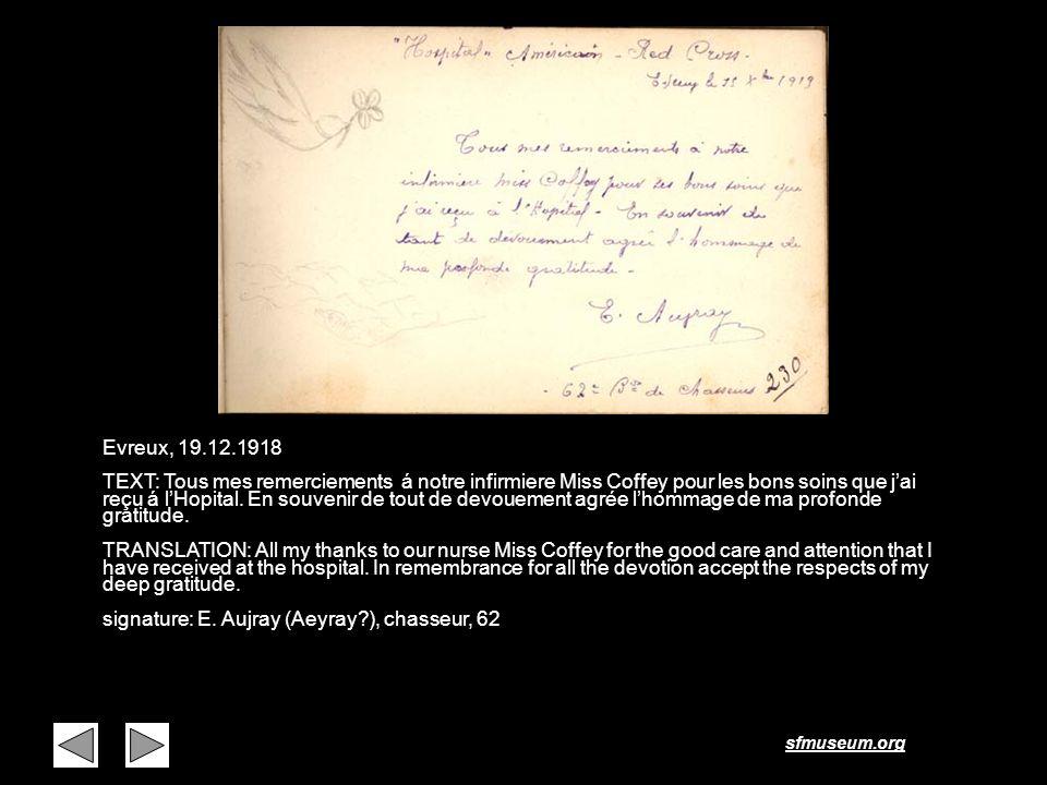 Page 17 Evreux, 19.12.1918.