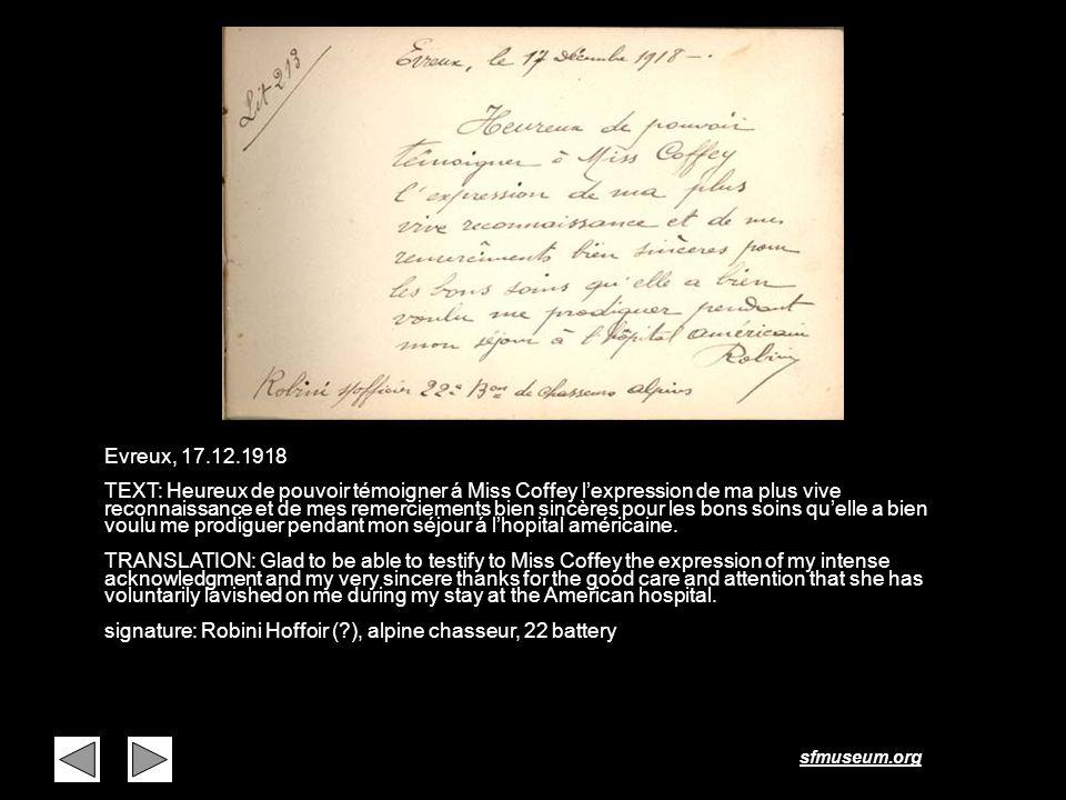 Page 18 Evreux, 17.12.1918.