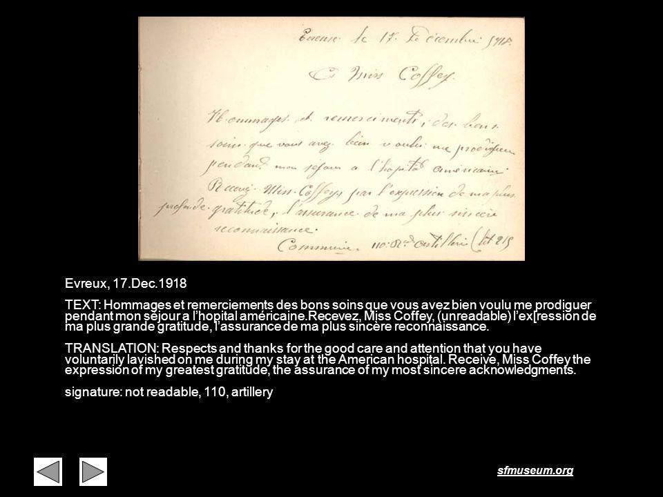 Page 19 Evreux, 17.Dec.1918.