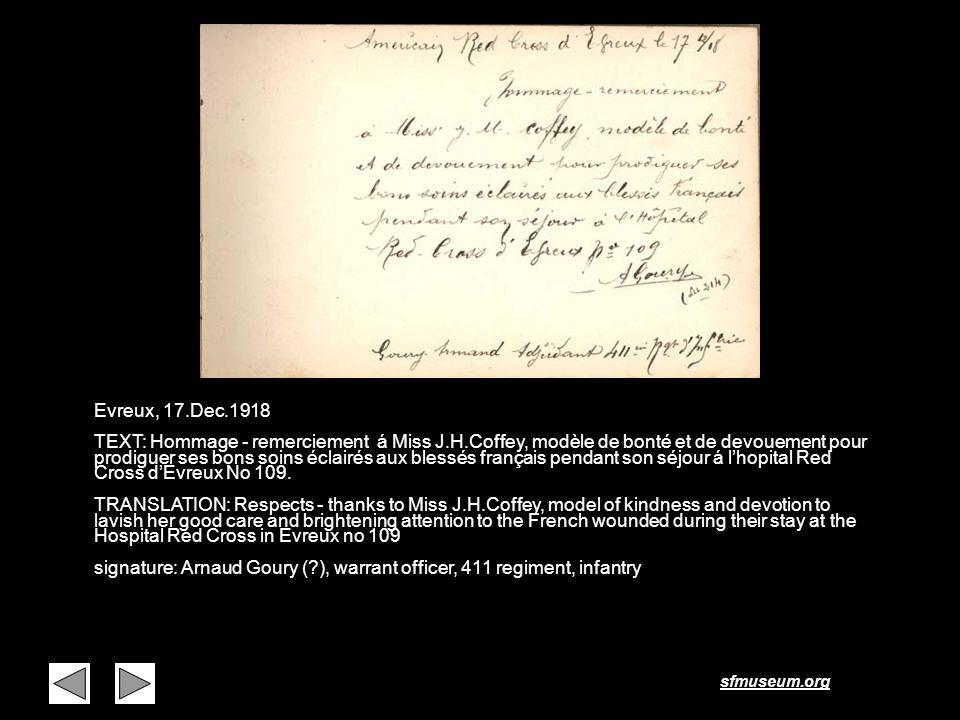 Page 20 Evreux, 17.Dec.1918.