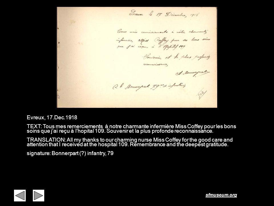 Page 21 Evreux, 17.Dec.1918.