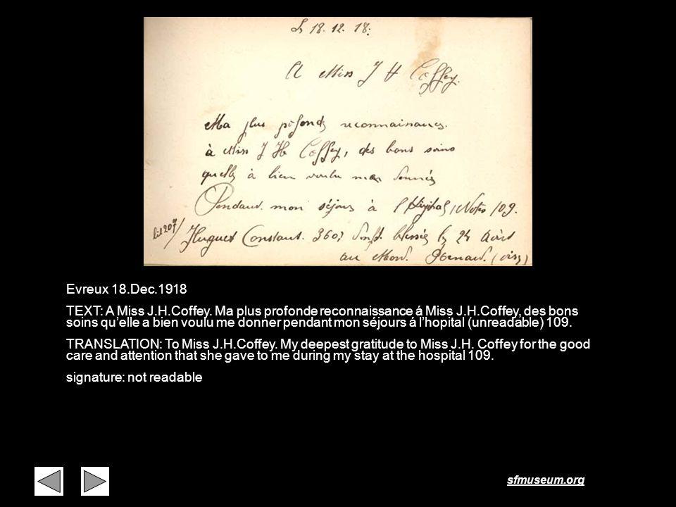 Page 26 Evreux 18.Dec.1918.