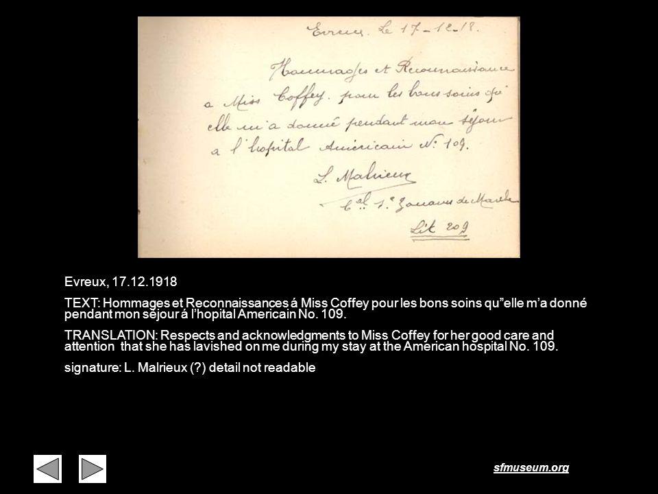 Page 27 Evreux, 17.12.1918.