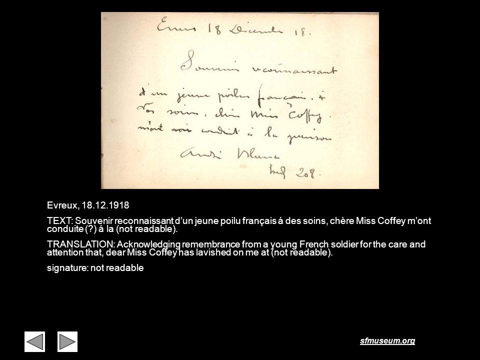 Page 28 Evreux, 18.12.1918.